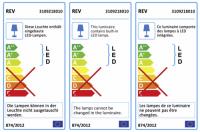 REV LED Feuchtraum Lichtleiste SuperSlim 18W weiss