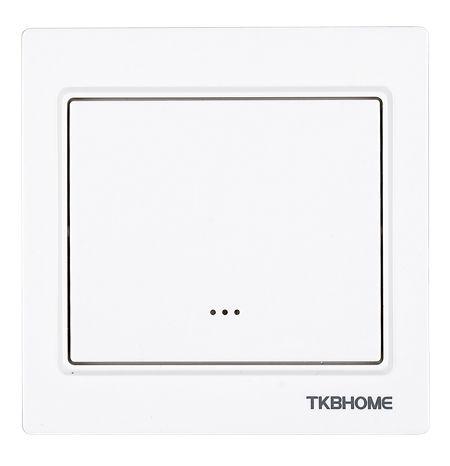 TKB Home Wandschalter mit Einfach-Wippe (Eckiger Rahmen)